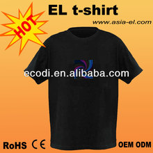 Professional Supplier of EL Luminous tshirt ,EL Panel for T-Shirt,el tshirt,el flash t-shirt