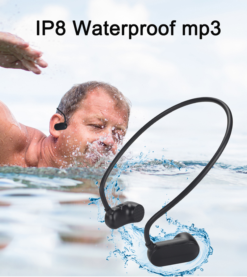 2019 Portable Running / Swimming Under Water USB Bone Conduction Best Waterproof MP3 Players