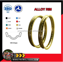WM golden color aluminium spoke rim for motorcross/motorcycle rim