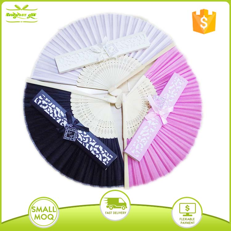 Europe bamboo folding wedding fans