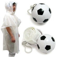 Custom Logo Printing Ball Emgency Raincoat Plastic Poncho Waterproof Foldable Disposable Raincoat