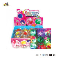 Colorful Jumping Flash Ball Toy Transparent Bouncing Ball