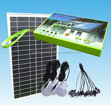 10w Indoor outdoor use small portable solar lighting system kit