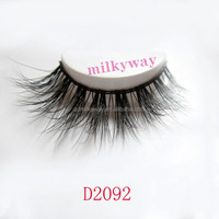 Wholesale 3D high quality New Release 100% Real Mink fiber Strip crisscross Lashes/False Individual Eyelashes D2092