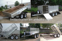 heavy duty hydraulic tipping trailer