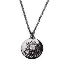 Wholesale Popular Jewelry Brass Plated Gun Black Color Snow Charm Necklace For Girls