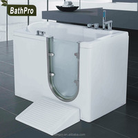 Corner installation one person indoor whirlpool hot tubs for disabled people