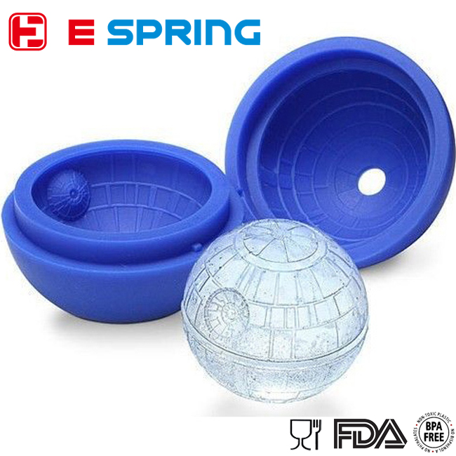 Flexible Star Ball Wars ice cube mold trays silicone ball shape ice tray