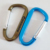 Personalized Stamped D Ring Color Key Carabiner Clip Hook