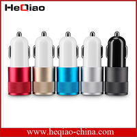 Hot selling mini usb fast charging dual port car charger for mobile phones
