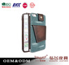 fashion denim leather cell phone pouch case back case for Samsung S6/S6 edge free sample stand card holder