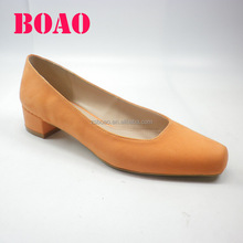 Best quality designer custom comfort Suede Block Heel women shoes dress shoe