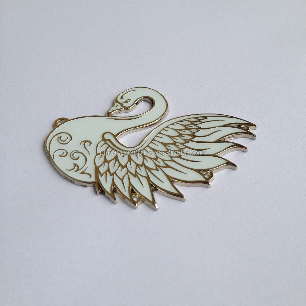 gold plating hard enamel metal badge custom epoxy lapel pins