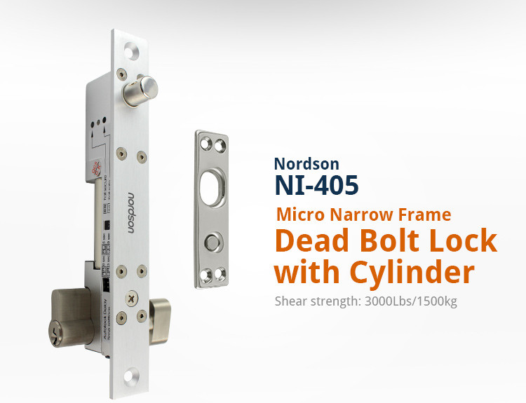 Narrow Frame electric bolt door lock solid bolt lock glass metal wooden fireproof door lock