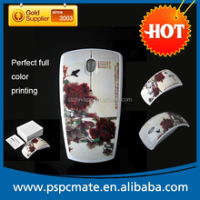 2015 newest 2.4Ghz drive wireless mouse foldable with bluetooth available as promotional gift