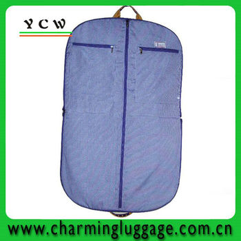 foldable garment bag with pockets