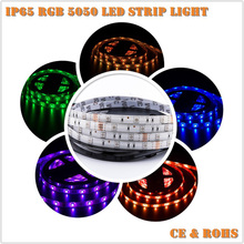 CE RoHS Hot Selling Led Lighting Products Flexible Strip Waterproof IP65 <strong>RGB</strong> 5050 12V Led Strip Lights For Garden