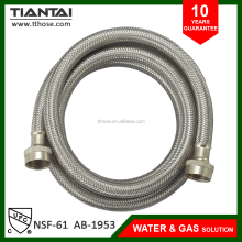 Stainless steel flexible washing machine hose inlet hose