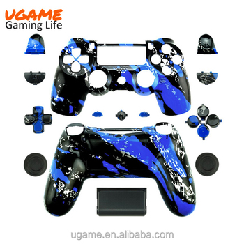 Easy to install housing shell replacement for ps4 blue splatter