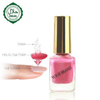 2019 new arrivals breathable water based halal nail polish with permeable