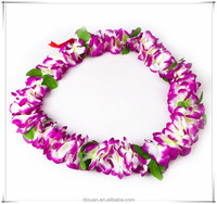 Polyeste Wedding Flower Garland Wreathe Lei Hawaii Flower Leis