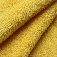 yellow wool sherpa fleece pillow fabric