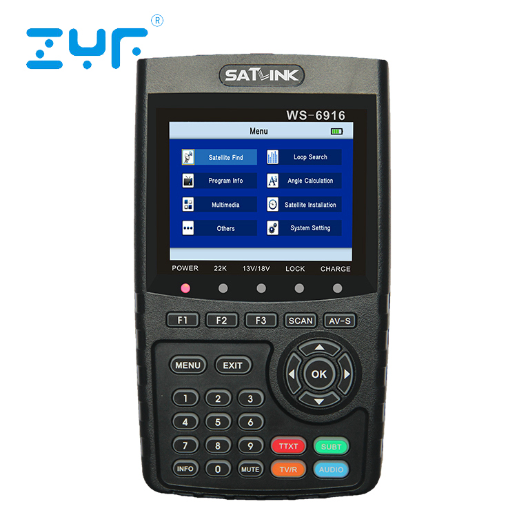 Portable original professional 3.5inch screen DVB-T DVB-S DVB-S2 digital hd satellite finder meter