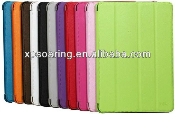 four folding stand leather case cover for ipad air