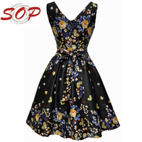 Summer wholesale clothes sexy v neck plus size dress