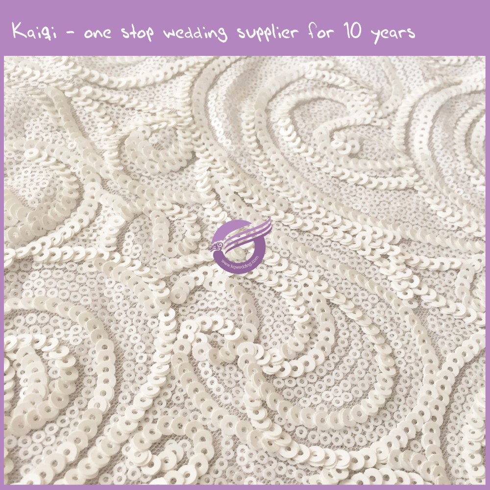 TX00468 kaiqi high quality table cloth for wedding sequins glitter table cloth