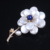 Coin pearl making camellia flower design korean brooch wholesale