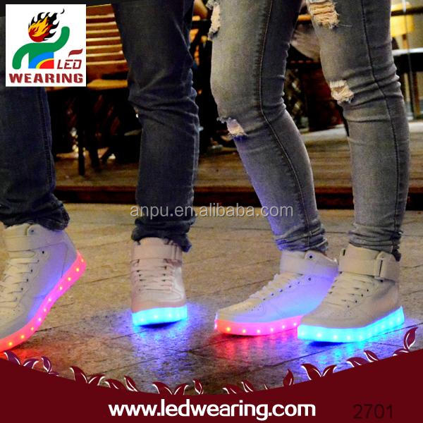 Anpu led wearing led sneakers led light for kids shoes