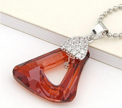 02022103 rhinestone charm necklace crystal from swarovski stone