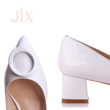 chengdu hot sales fashion elegant leather buckle pointed toe rubber outsole ladies shoes