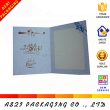 high quality paper birthday card birthday party invitation cards with ribbon