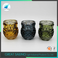 Color Plated Votive Glass Candle Holder