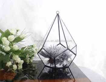 MX131409 tiffany style stained glass terrarium for plant holder case for home decoration wholesale