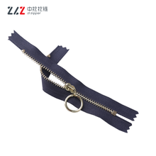 High Qualityc Light Gold Metal Zipper for Bags Customized