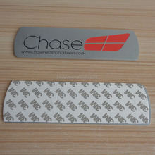 custom metal silver chase company logo plate for woodern door