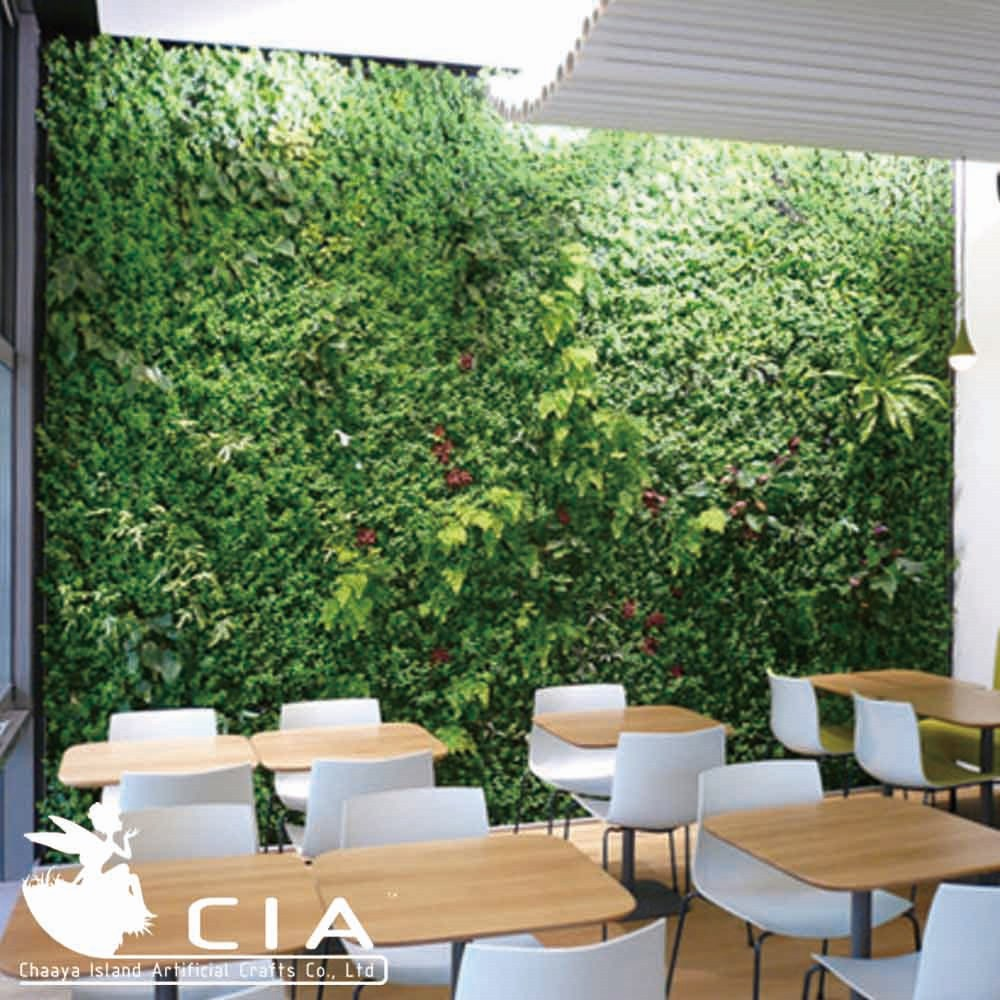 Parete Piante Artificiali : Sintetico verticale parete verde erba artificiale