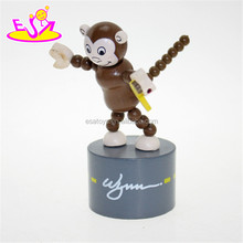 high quality wooden toy finger toy, hot sale wooden push finger toy W06D043