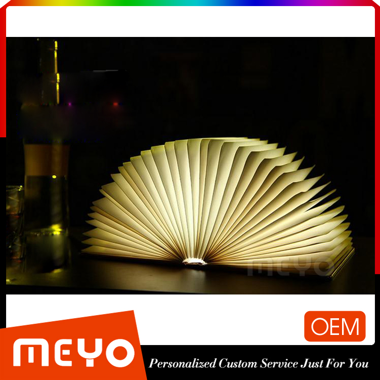 Custom Painting Creative Book Page Design Night Light Table Lamp