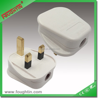 SASO G-MARK certificate white color 250V 13A fused top plug UK plug