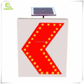 600*800mm Solar powered LED flashing road arrow traffic sign