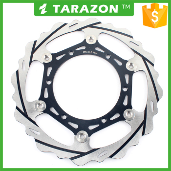 Stainless steel and aluminum alloy motorcycle wave brake disc rotor with adaptor for YZ 125