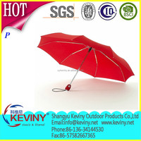 190t pongee umbrella fabric material made 3 folding auto open and close umbrella manufacture by chinease parasol factory