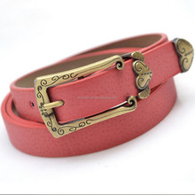 2014 fashion style vintage heart ladies PU belt