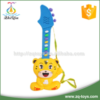 Battery operated plastic cartoon guitar toy for kids