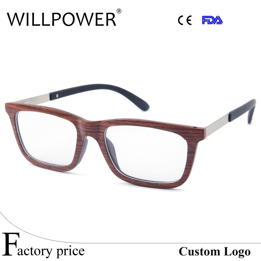 Latest optical frames wooden optics glasses with spring hinger