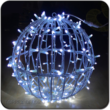 Factory wholesale 600leds large light up outdoor christmas lighted ornamental balls
